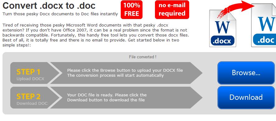 Как перевести docx в doc?
