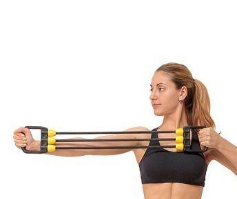Как накачать мышцы эспандерами?