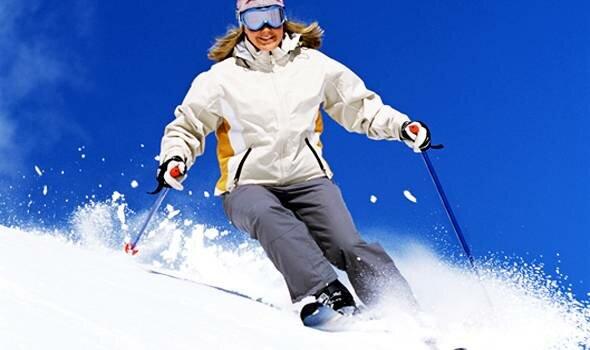 Как спускаться на лыжах?
