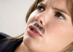 Как избавиться от усов женщине (на женском теле)?