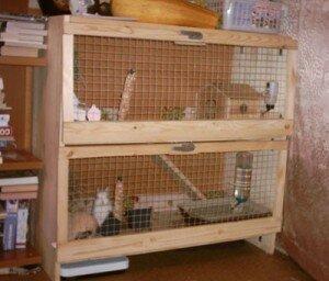 Как самостоятельно сделать клетку для кроликов?